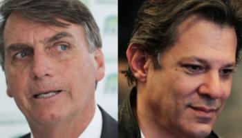 Bolsonaro tem 55% e Haddad tem 45%, na véspera da eleição presidencial; diz Datafolha;